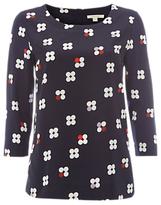 White Stuff Cluster Spot Jersey T-Shirt, Navy