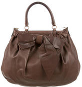 Valentino Leather Bow Satchel