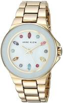 Anne Klein Women's Quartz Metal and Alloy Dress Watch, Color:Gold-Toned (Model: AK/2858WMGB)
