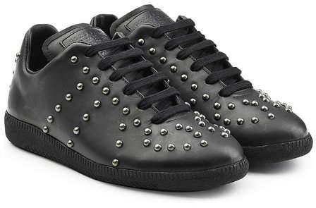 Maison Margiela Embellished Leather Sneakers