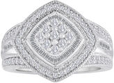 JCPenney FINE JEWELRY 3/4 CT. T.W. Diamond Sterling Silver Frame Ring