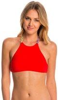 Red Carter Friendship Bracelet High Neck Bikini Top 8145696