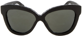 Linda Farrow Luxe Black Snake Sunglasses
