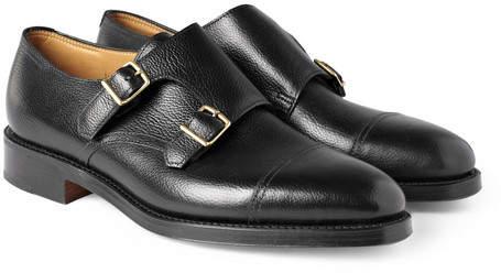 John Lobb William Leather Monk-Strap Shoes - Black