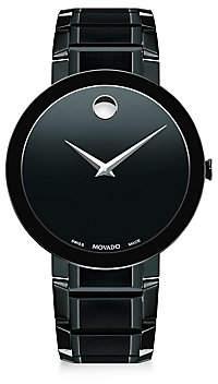 Movado Men's Sapphire Black PVD Stainless Steel Bracelet Watch