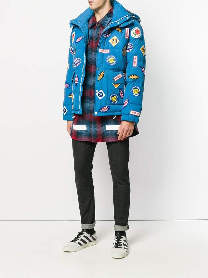 Off-White patches padded jacket