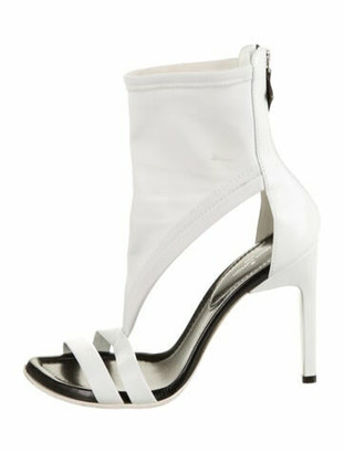 Louis Vuitton Leather Ankle Cuff Sandals White