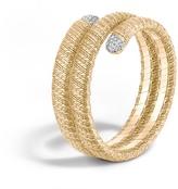 John Hardy Women's Classic Chain Double Coil Bracelet in 18K Gold with Diamonds