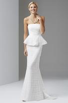 Adrianna Papell Strapless Shutter Peplum Gown 91884790