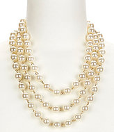 Anna & Ava Claire Faux-Pearl Multi-Strand Statement Necklace
