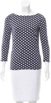 Tory Burch Three-Quarter Sleeve Patterned Top