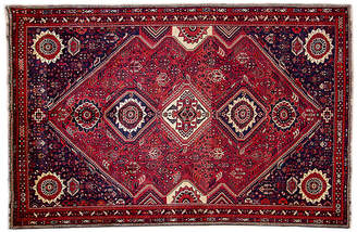 "One Kings Lane 7'x10'7"" Persian Shiraz Rug - Wine/Navy"