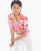 Chico's Linen Floral Sina Shirt