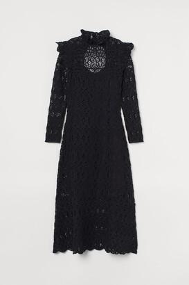 H&M Crocheted long dress