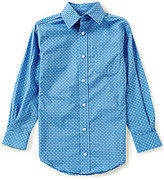 Class Club Big Boys 8-20 Button-Front Fish-Print Long-Sleeve Shirt