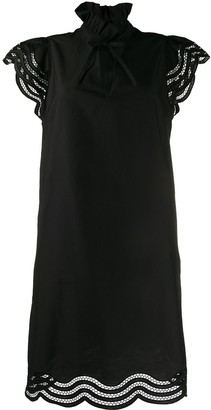 P.A.R.O.S.H. Cojourd embroidered wavy details dress