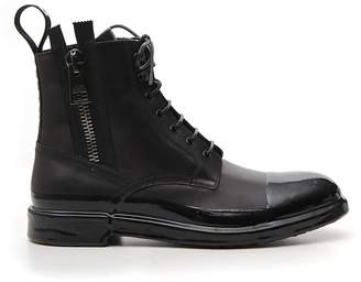 Dolce & Gabbana Lace Up Zipped Ankle Boots