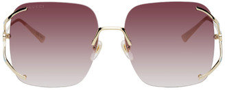 Gucci Gold Rimless Square Sunglasses
