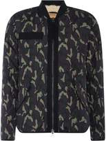True Religion Camo Fleece Lined Bomber Jacket