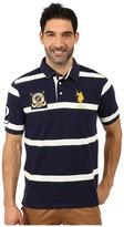 U.S. Polo Assn. Tri Color Stripe Pique Polo