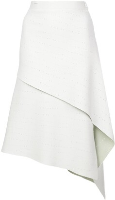Proenza Schouler Perforated Knitted Skirt