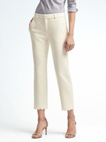 Banana Republic Avery-Fit Scallop-Hem Pant