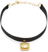 Nakamol Asscher-Cut Crystal Choker Necklace, Yellow