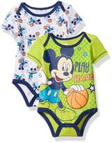 Disney Boys' Mickey Mouse Adorable Soft 2 Pack Bodysuits