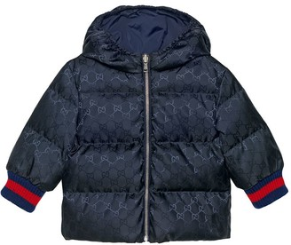 Gucci Kids Baby reversible GG jacquard jacket