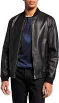 Theory Men's Rhodes Brenton Leather Bomber Jacket