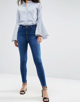 Asos Ridley High Waist Skinny Jeans in Baillie Rich Blue
