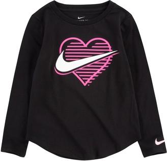 Nike Toddler Girl Long Sleeve Logo Tee