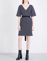 Mo&Co. Striped cotton-jersey dress