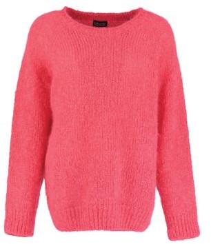 Lowie Strawberry Slouchy Mohair Jumper - S - Red