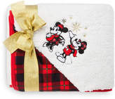 Disney Mouse Holiday Fleece Throw