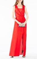BCBGMAXAZRIA Koko Lace-Trim Blouson Gown