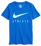 Nike 'Swoosh - Athlete' Dri-FIT Short Sleeve T-Shirt (Little Boys & Big Boys)