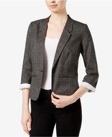 Kensie Tweed One-Button Blazer
