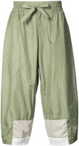 Iise - cropped colour block trousers - men - Nylon/Polyester - S