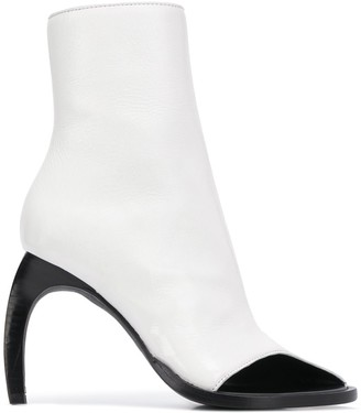 Ann Demeulemeester Two-Tone Curved Heel Boots