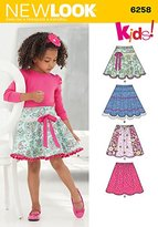 "Simplicity 6258 Size A 3/4/5/6/7/8/10/12 ""Child's and Girls' Circle Skirts"" New Look Sewing Pattern"