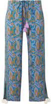 Figue Goa Printed Silk Crepe De Chine Wide-leg Pants