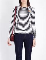 Mo&Co. Breton stripe long-sleeved top