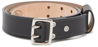 Chloé Franckie Double-prong Buckle Leather Belt - Black