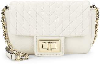 Karl Lagerfeld Paris Agyness Faux Leather Crossbody bag