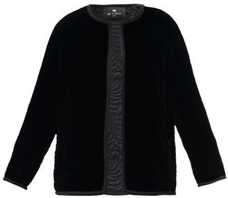 Etro Brumby Floral-quilted Velvet Jacket - Black