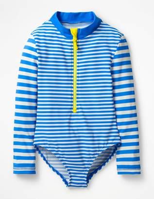 Boden Stripy Long-Sleeved Swimsuit