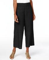 Eileen Fisher Organic Linen Cropped Wide-Leg Pants