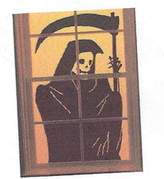 Martha Stewart Grim Reaper Window Cling Poster 24 X 36 Halloween