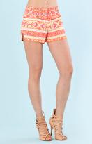 Hale Bob Cari Crepe Shorts In Coral